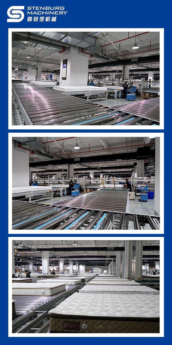 Plan de diseño completo de la línea de producción de colchón completo 4